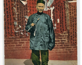 A Chinese Professor San Francisco California 1910s postcard