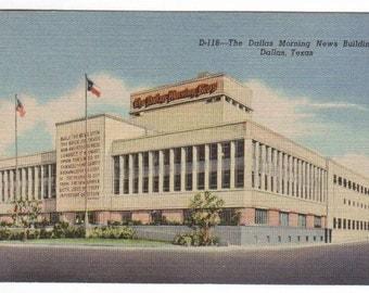 Dallas Morning News Newspaper Building Dallas Texas 1940s linen postcard