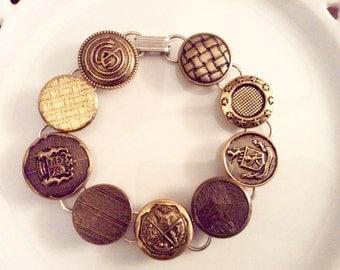 Gold Button bracelets