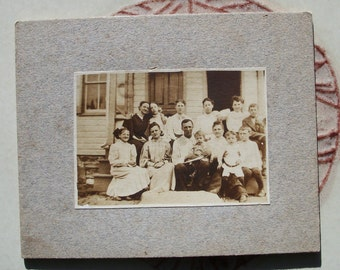 Vintage Photograph - Safety in Numbers, a Baker's Dozen Family