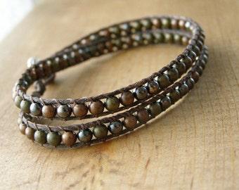 Mixed Metals Wrap Bracelet