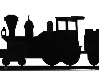 Coal Train Engine Locomotive Railroad Black Mail Box Topper