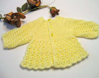 Top Down, No Seam Crochet Baby Sweater Pattern, Corrine, Instant Download, Sizes 0 to 12 months