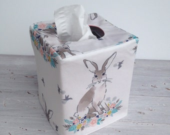 Cottontail reversible tissue box cover