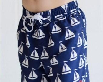 Monogrammed Boys' Swim Trunks