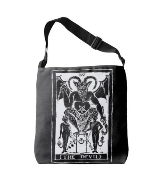 Devil Tarot Cross Strap Body Bag