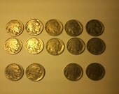 Vintage LOT of 14 Buffalo Indian Head Nicles Legible 1920-1937 Some D & S