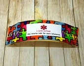 Autism ID Fabric Bracelet Autism Awareness Medical Alert Medic Alert Medical ID Autism Wristband Safety Bracelet Kids Identification
