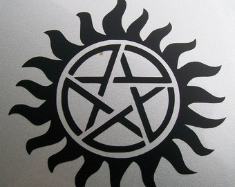 Supernatural Protection Tattoo decal sticker