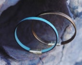 CIVAL Collective - Amie   Simple Leather   Summer Colors   Leather Cuff   Cival Collective Jewelry   Minimalist Design   Easy Clasp