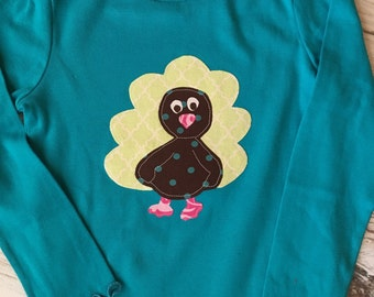 SALE- Girl's Long Sleeve Turkey Shirt Size 4T
