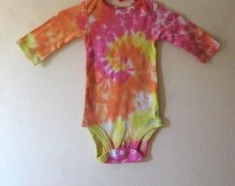 Tie Dyed Onesie Hippie Baby Onesy 0-3 months
