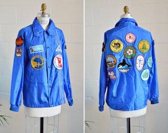 SALE / Vintage 1950s nylon NOVELTY jacket