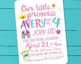 Princess Birthday Invitation (Printable PDF)