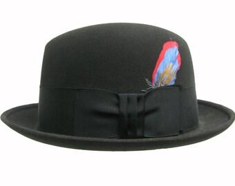 Vintage Mens Hat 1960s Knox Hats New York City Stingy Brim Rockabilly Bebop Hat Mns Size 7 1/4