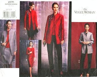 Pick Your Size - Vogue Separates Pattern 2771 - Misses' Jacket, Top, Dress, Skirt and Pants - The Vogue Woman Series - Vogue Patterns