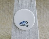 Little Birdie Porcelain Necklace, Ceramic Jewellery, Mrs Peterson Pottery