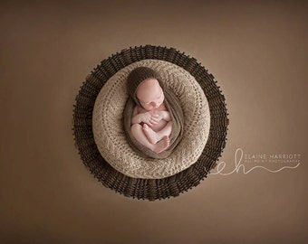Knit Baby Hat, Classic Knit hat, Neutral Prop, Photography prop, Newborn Photo Shoot Prop by Cream of the Prop