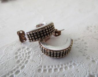 vintage Ralph Lauren silver EARRINGS - pierced, 14K posts