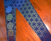 Flower of Life Leggings- Rainbow Sacred Geometry Chakra Leggings Black - Available Sizes S - XL