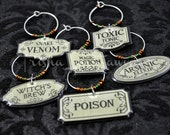 Halloween Labels Wine Charms (#1)