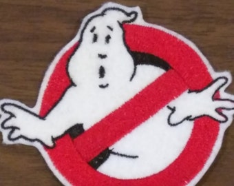 Ghostbusters inspired logo,  No Ghost embroidered iron on patch