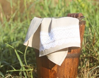 Natural Linen Kitchen Towel. Tea Towel.