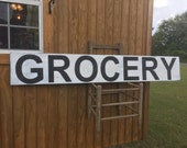 Distressed Kitchen, Grocery, Market Wood Sign (12x6ft)