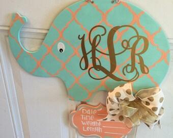Baby Elephant Nursery/Hospital Door Hanger