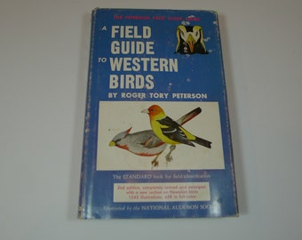 Vintage A Field Guide To Western Birds 1961