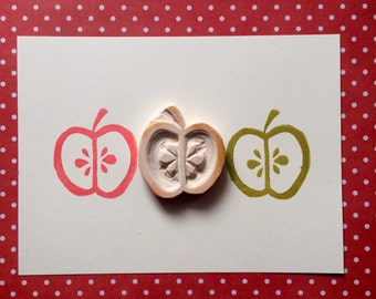 Fruity Apple Rubber Stamp - fruit, teacher thank you gift