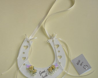 Good luck wedding horse shoe keepsake bridal gift