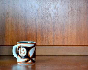 vintage 1978 fajance royal copenhagen annual mug - bo kristiansen