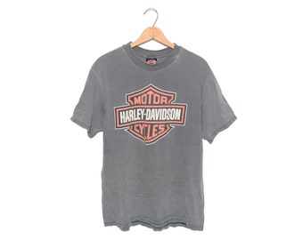Vintage Harley Davidson Motorcycles New York City Dark Grey 100% Cotton T-shirt - Large