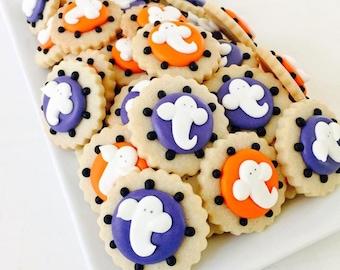 READY TO SHIP Halloween Ghost Cookies (20 cookies)