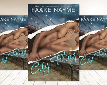 "Premade Digital Book eBook Cover Design ""City Fling"" Fiction Novel New Adult NA Romance Erotica Steamy Love"