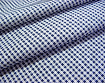 Vintage 30s Cotton Fabric Reclaimed from Bias Skirt Daydress -Black & White Gingham Small Check for Quilts, Restoration, Sewing, Crafts