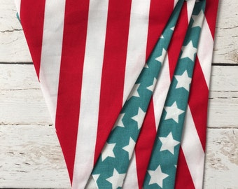 Patriotic Bunting - Red, White, Blue Bunting - Stars and Stripes Banner