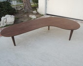 MID CENTURY MODERN Style Kidney Bean or Boomerang Coffee Table (Los Angeles)