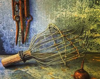 Fruit Picker / Primitive Industrial Wire Fruit Picker