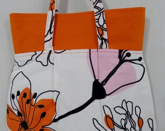 White, Orange, Pink, Large Print, IKEA, Small Purse, Mini Frenchy, Tiny Spring Summer Purse, Cosmetic BAG