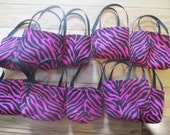 American Girl Doll Party Favors, 10 black and pink doll purses for 18 inch dolls