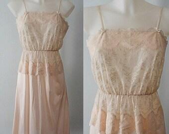Vintage Pink Slip, Vintage Full Slip, 1960s Pink Slip, Pink Full Slip, Romantic, Vintage Ladies Lingerie, Full Slips, Slips