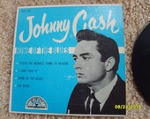 Johnny Cash Record Home of the Blues, 45 Record, Sun Label Record