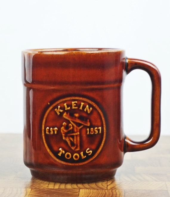 Pfaltzgraff Vintage Coffee Mug Klein Tools Brown Coffee Cup