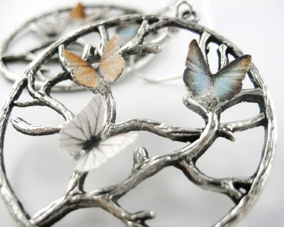 Butterfly Tree of Life Earrings
