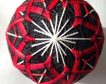 Red Blossom Beauty Temari- Temari Ball