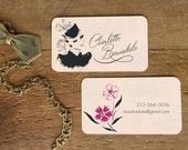 Business Cards, Fashion Illustration, Calling Cards, Personalized Womens Business Card, 1950s, Calligraphy, Calling Cards, Stationery