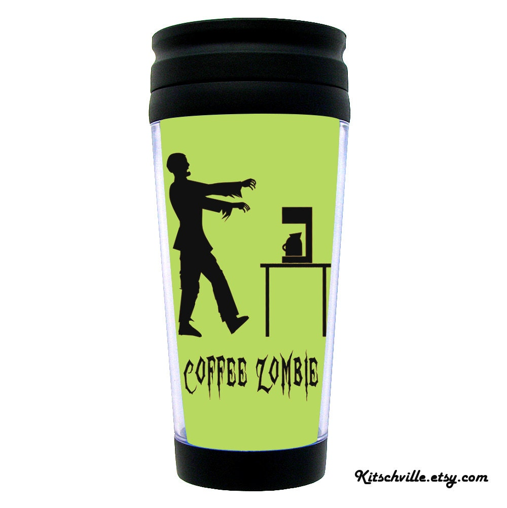 Funny Travel Mug Coffee Zombie Fun Gift For Coffee
