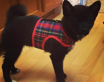 Classic Tartan Plaid Small Dog Harness Made in USA